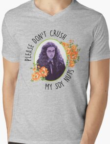 Please Don't Crush My Soy Nuts Mens V-Neck T-Shirt