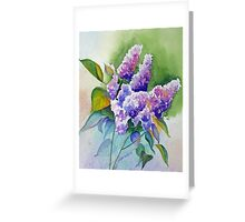 Lilacs in Lavender Greeting Card