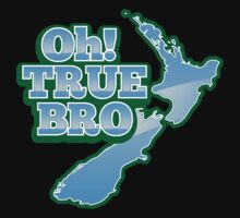 Oh TRUE BRO! with New Zealand MAP One Piece - Short Sleeve