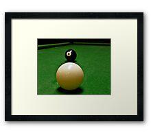 Behind the 8 Ball? Framed Print