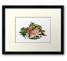 A Summers' Diet Framed Print
