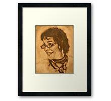 The Jill block-in in raw umber Framed Print