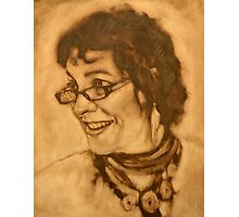 The Jill block-in in raw umber Photographic Print