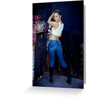 Tina in Blue Jeans-5 Greeting Card