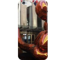 Balloon Monkey, Jeff Koons Artist, Rockefeller Center, New York City iPhone Case/Skin