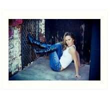 Tina in Blue Jeans-4 Art Print