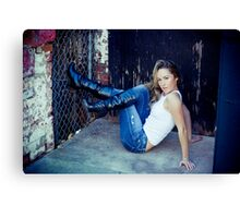 Tina in Blue Jeans-4 Canvas Print