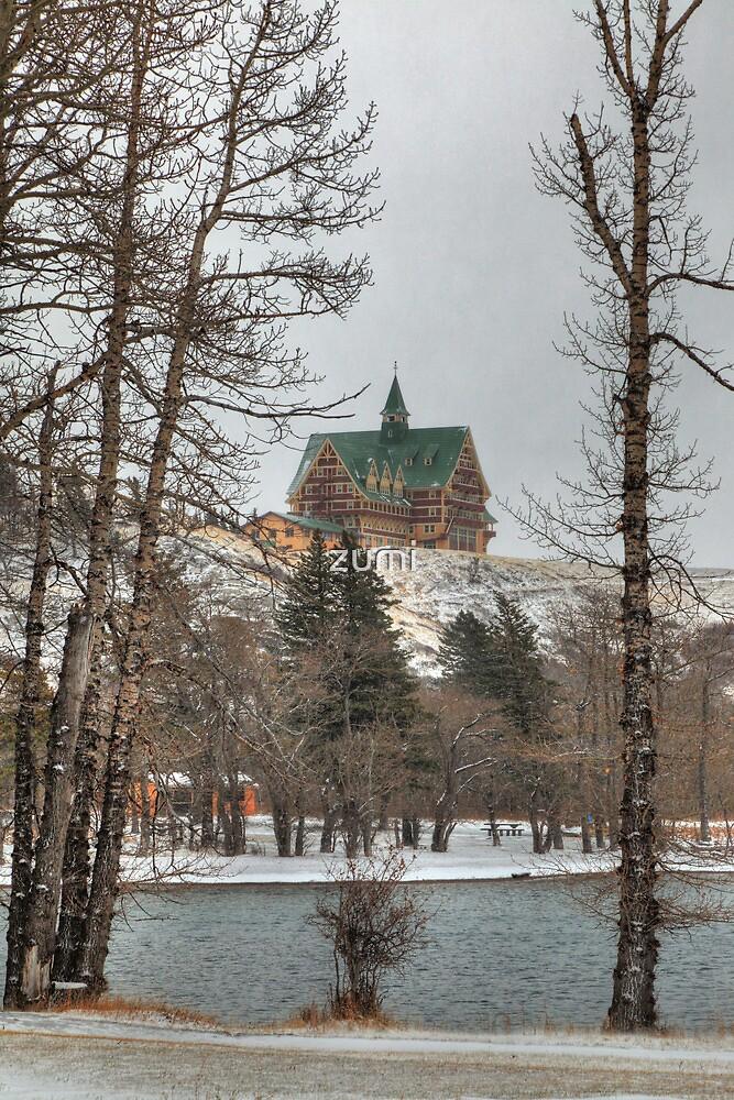Hotel in winter by zumi