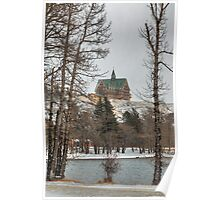 Hotel in winter Poster