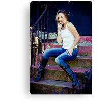 Tina in Blue Jeans-1 Canvas Print