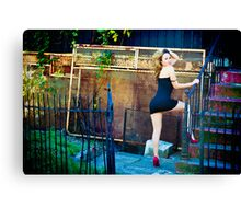 Tina-Little Black Dress-4 Canvas Print