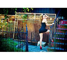 Tina-Little Black Dress-4 Photographic Print