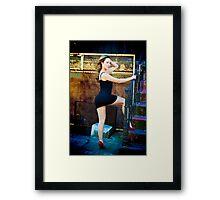 Tina-Little Black Dress-3 Framed Print