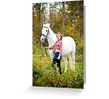 Tina and Abner-1 Greeting Card