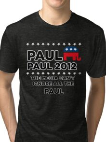 "Paul-Paul 2012 - ""The Media Can't Ignore All The Paul"" Tri-blend T-Shirt"