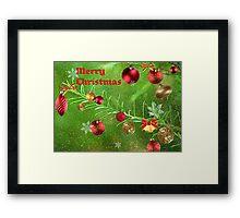 Merry Christmas 2011-Red Framed Print