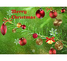 Merry Christmas 2011-Red Photographic Print