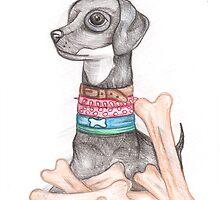 DB|Dog and bone by Anya Alexandrova