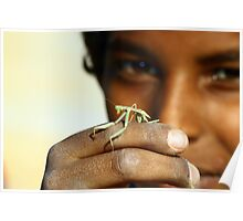 Children with insect Poster