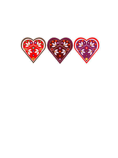 Traditional love hearts by venitakidwai1