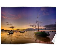 Poole - Sunset Poster