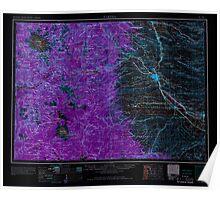USGS Topo Map Washington State WA Yakima 244826 1958 250000 Inverted Poster