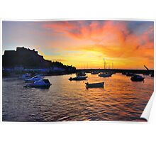 Gorey Harbour Sunrise Poster
