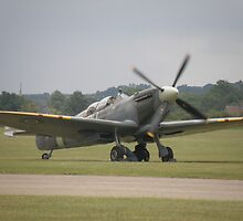 Maintenance on the Grace Spitfire. by Edward Denyer