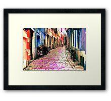The Essence of Croatia - Rovinj Narrow Street Framed Print