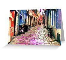 The Essence of Croatia - Rovinj Narrow Street Greeting Card