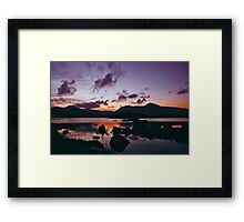 Twilight over Rannoch Moor and the Black Mount, Scotland Framed Print