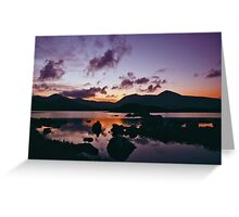 Twilight over Rannoch Moor and the Black Mount, Scotland Greeting Card