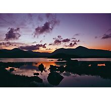 Twilight over Rannoch Moor and the Black Mount, Scotland Photographic Print