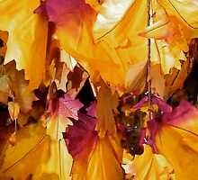 Christmassy Leaves by Robert Steadman