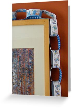 Paper Chain with Painting by Robert Steadman