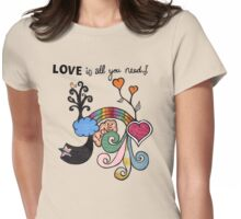 ♥ is all u need Womens Fitted T-Shirt