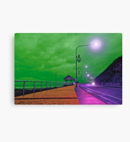 Surreal waterfront Canvas Print