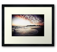 Sea Swirl Framed Print