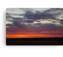 Naracoorte sunset 11/11/11 Canvas Print