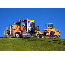 Heavy transport in light bright colour Photographic Print