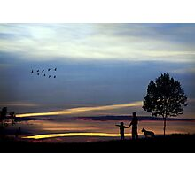 Sunset through a child's eyes. Photographic Print