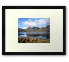 Cradle Mountain reflections. Tasmania Australia Framed Print