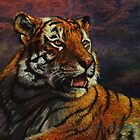 Tiger in Pastel by Sue Deutscher