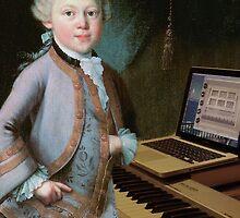 young Mozart at the Organ by Soxy Fleming