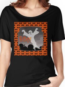 Haunted Graveyard, ghost and tombstones, Halloween Women's Relaxed Fit T-Shirt