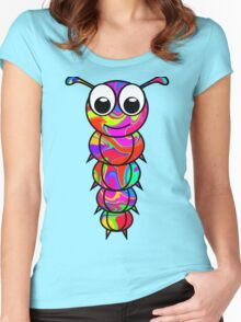 Colorful Caterpillar Women's Fitted Scoop T-Shirt