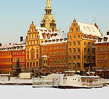 Old town in winter. by cloud7