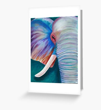 Elephant in color Greeting Card