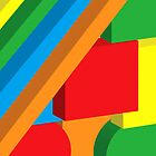 Coloured 3d shapes by Emma Williams