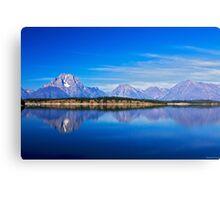 Mirror at Jackson Lake Canvas Print